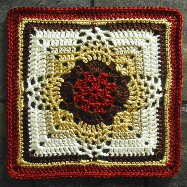 """Pineapple Granny 12"""" Square by swiftlysparrows ~ stunning ~ free ..."""