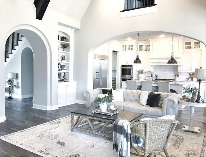 The Wall Paint Color Is Sherwin Williams SW 7015 Repose Gray Interior Design Ideas