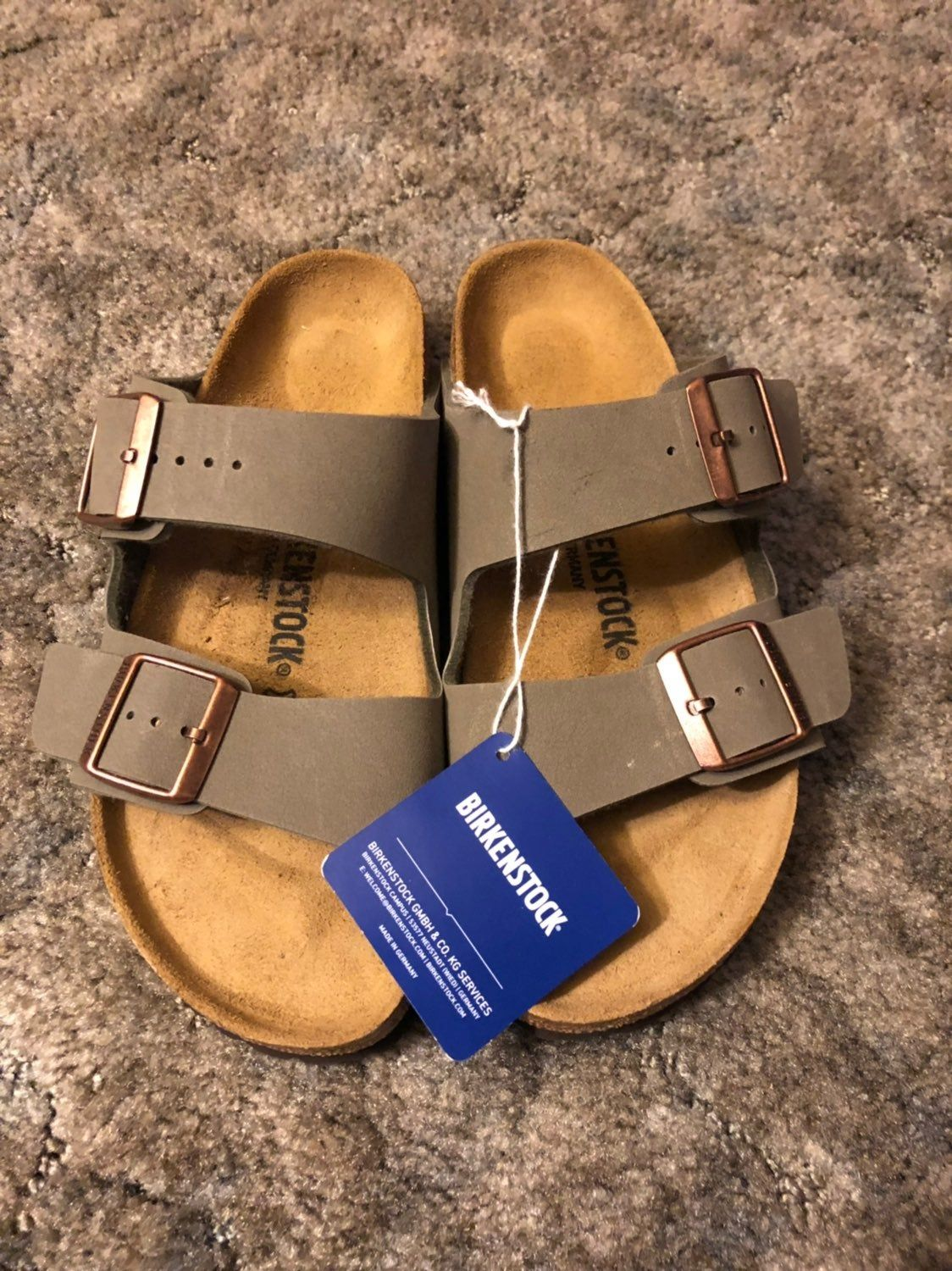 In The Color Stone In Narrow Width Size Eu 39 In Us 8 8 5 The Classic Footbed Sandal Look From Birkensto Birkenstock Footbed Sandals Birkenstock Sandals