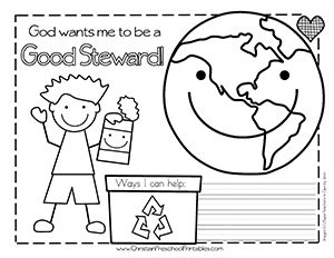 Earth Day Coloring PagesThere Are Numerous Bible References That Talk About Stewardship Of The In Fact One First Commands God Give To Adam