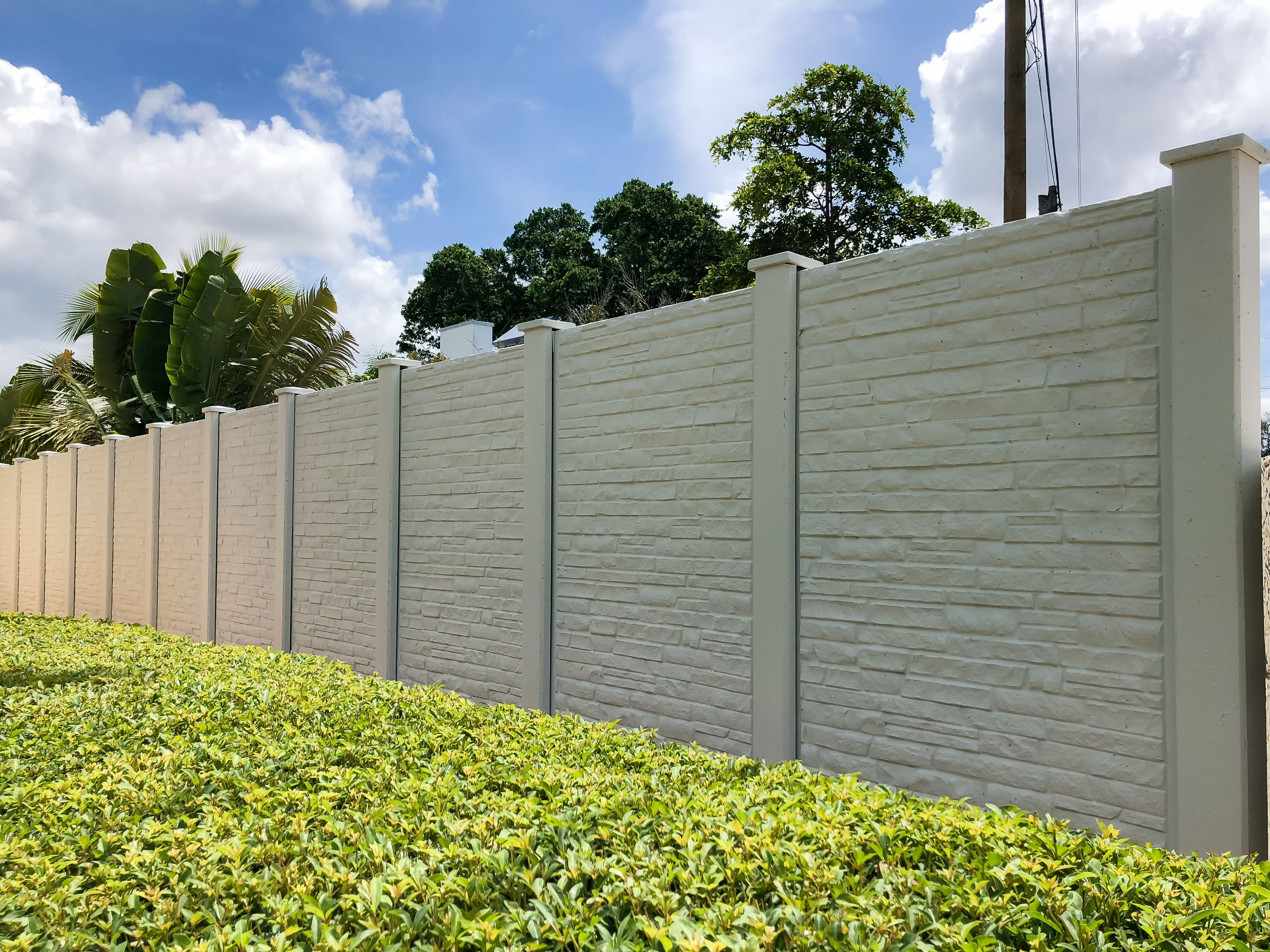 Concrete Fencing Fence Wall Design Compound Wall Design Precast Concrete