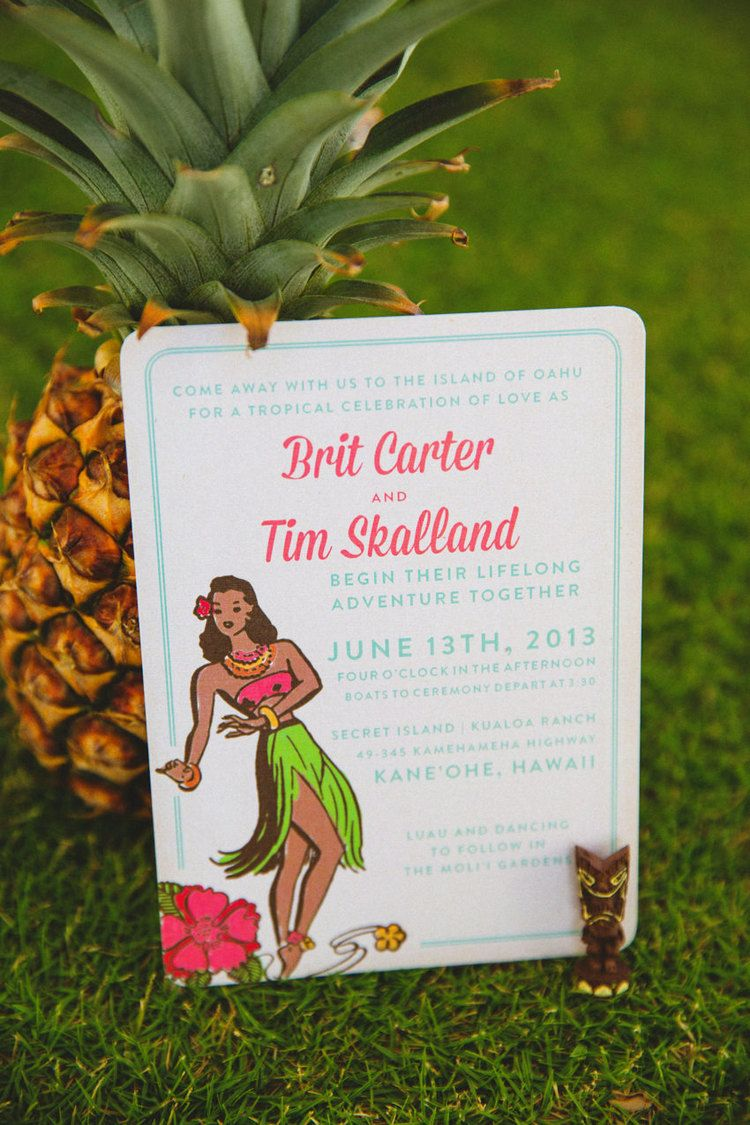 kitschy vintage hawaii wedding invitation the goodness-2.jpg | Party ...
