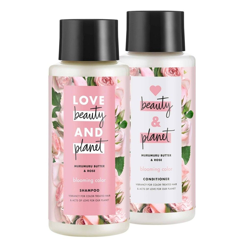 Love Beauty And Planet Muru Muru And Rose Shampoo And Conditioner 2pk 13 5 Fl Oz Rose Shampoo Beauty Planet Color Shampoo