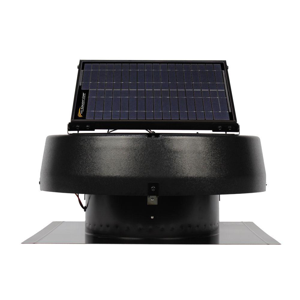 Air Vent 20 Watt Solar Powered Roof Attic Fan 1680cfm 97330 The Home Depot