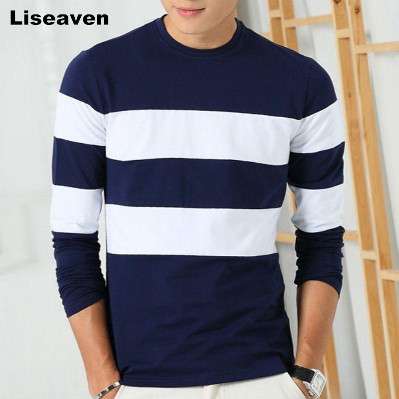 $22.90 Liseaven 2017 New Autumn Winter Mens Long Sleeve T-Shirt O ...