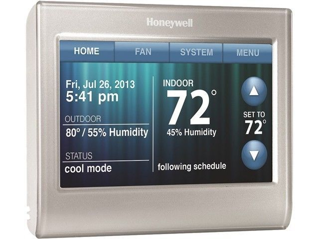 Programmable Smart Thermostat Wifi Touchscreen Customizable Home Heating Cooling Honeywell Home Thermostats Pinterest Home Automation System Best Smart