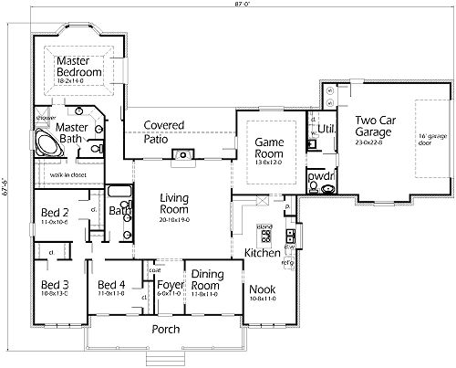 Floor Plan For My Dream House Texas House Plans Best House Plans Dream House Plans