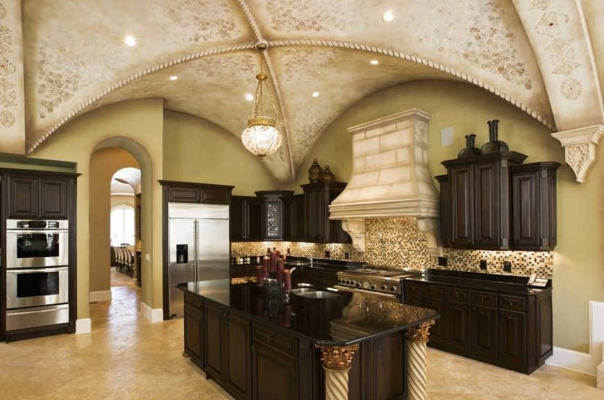 Custom Luxury Kitchen 500 Custom Master Bedroom  Black Countertops Wall Colors And