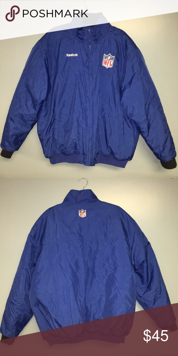 Official NFL Jacket Great for any football fan. Quilted lining. Reebok  Jackets   Coats Bomber   Varsity 6bee4d11a95c