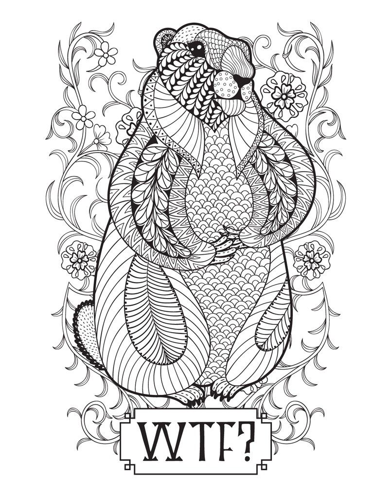 Pin By Valarie Ante On Color Me Sweary Coloring Pages Monster