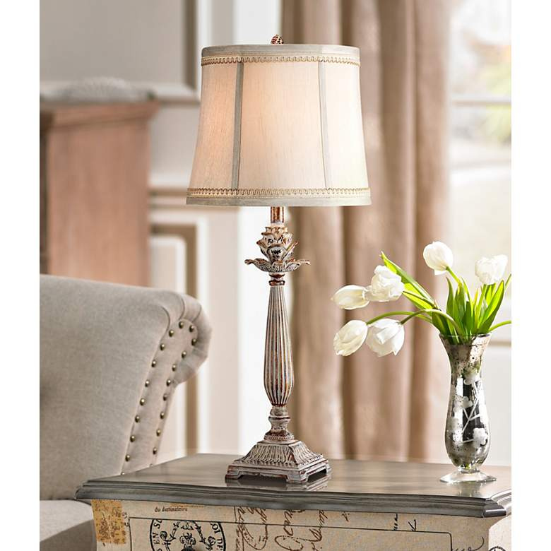 Petite Artichoke Font Table Lamp W6536 Lamps Plus