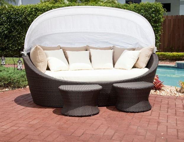 Source Outdoor Hampton Outdoor Daybed with Canopy Home Furniture