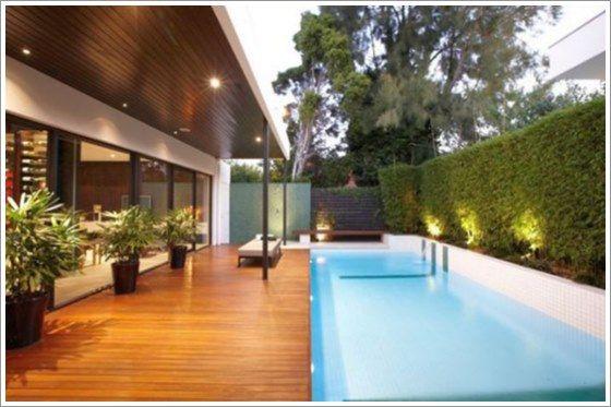 Piscina de vinil com ampla varanda. #piscina #varanda #cercaviva #pool #outdoorpool #terrace