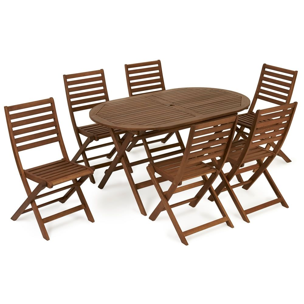 6 seater round wooden garden table and chairs - Garden Furniture 6 Seater Round