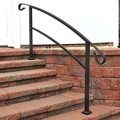 Best Railing Now Canyon 5Ft Transitional Handrail Matte 640 x 480