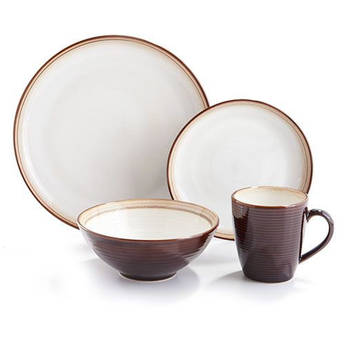 333697 Sango Jetta Brown 16pc. Dinnerware Set  sc 1 st  Pinterest & 333697 Sango Jetta Brown 16pc. Dinnerware Set | Tips and Info ...