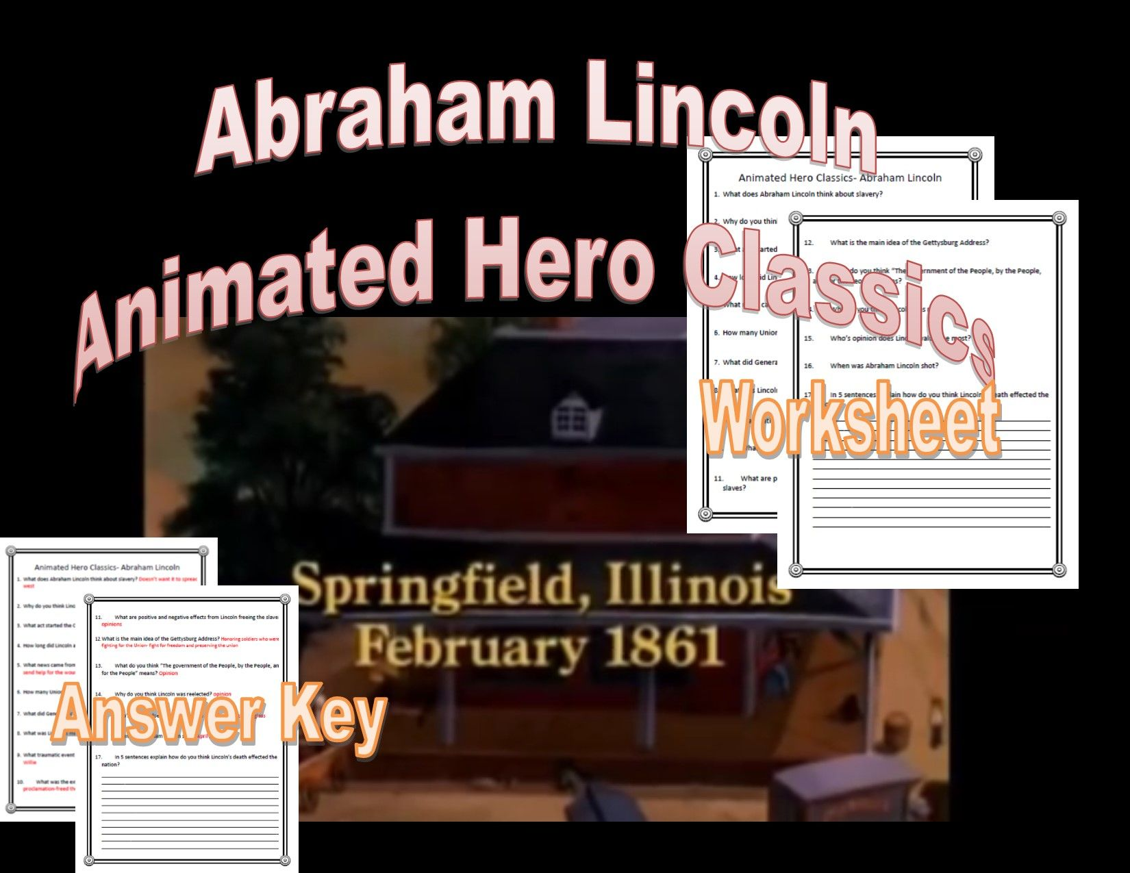 Abraham Lincoln Animated Hero Classics Cartoon Video