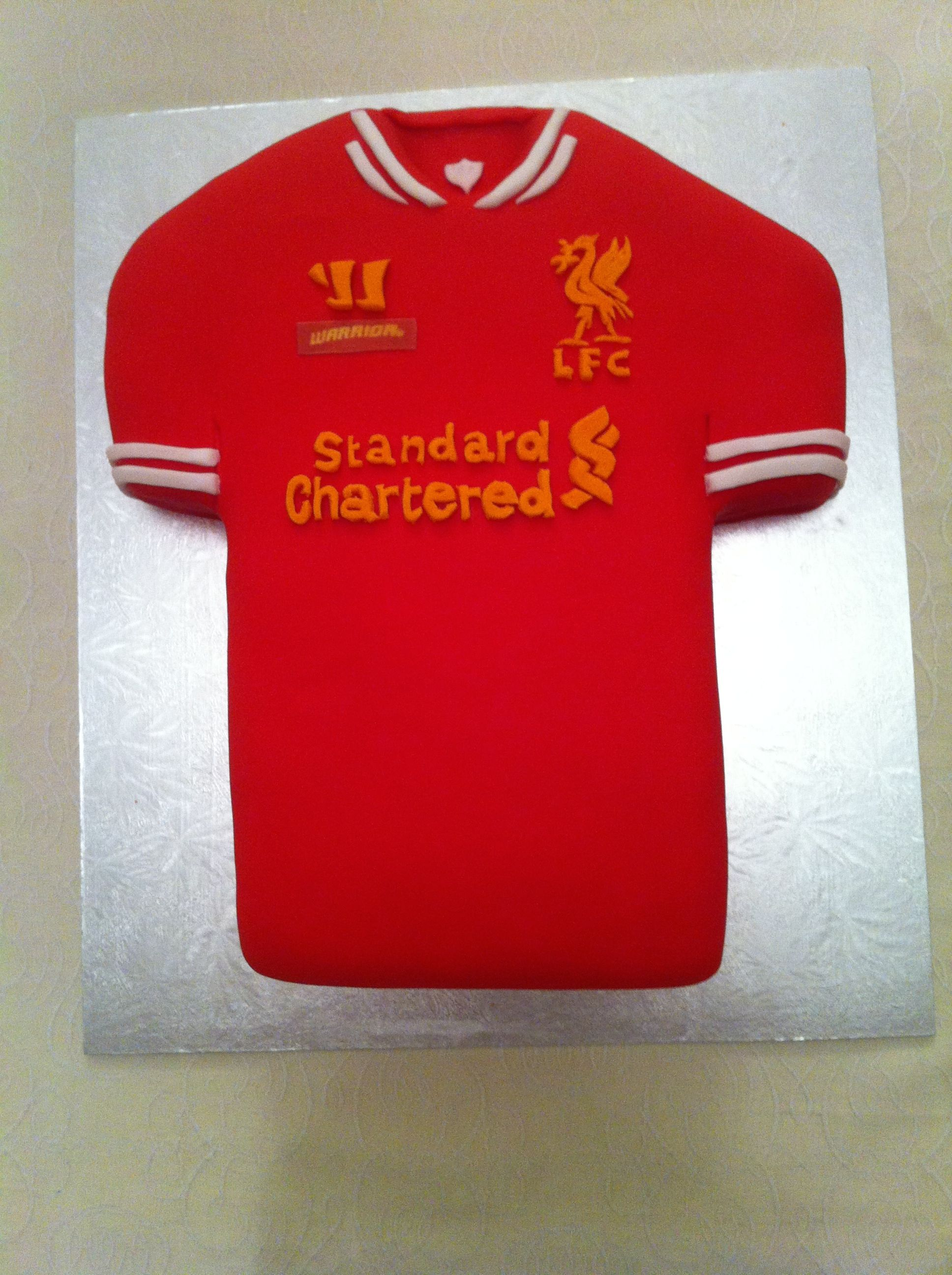 Cake Decorating Football Shirt : Liverpool FOOTBALL SHIRT CAKE Jersey cakes Pinterest ...