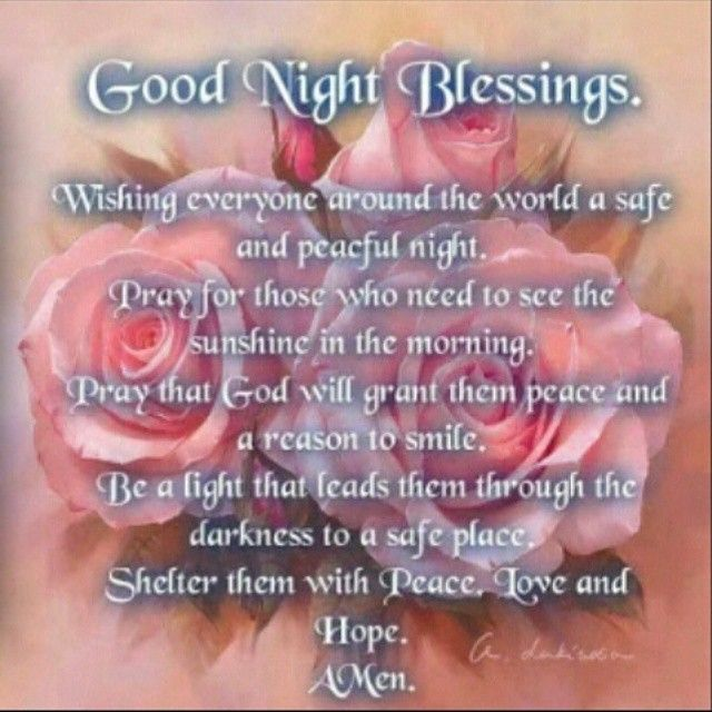 Good Night Everyone! This is really lovely. Thank you sweet friend ...