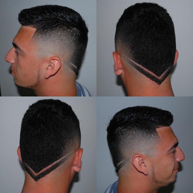 V Shaped Neckline Haircut Boys Back Cut Pictures Hairstyle For