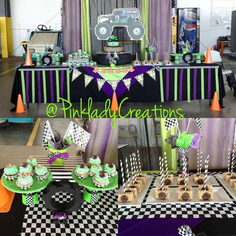 Party Jelly Ideas: Monster Jam Gravedigger Birthday Party Ideas In 2019