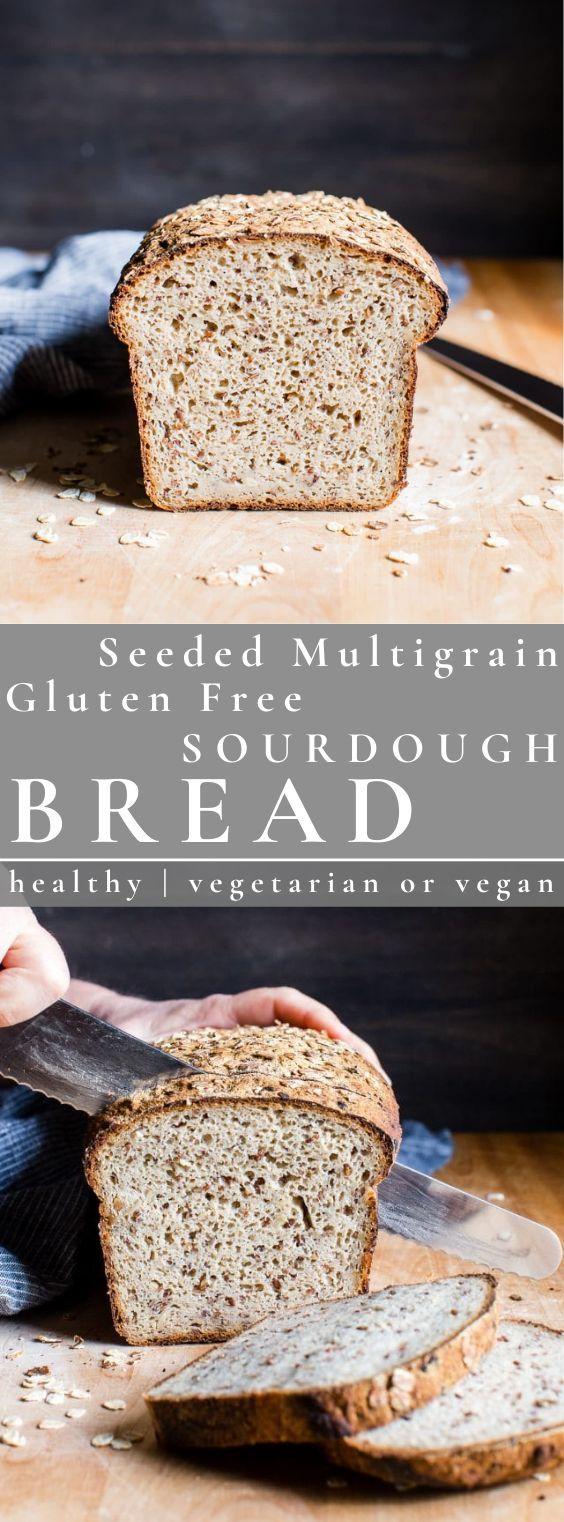 Seeded Multigrain Gluten Free Sourdough Bread Vanilla And Bean In 2020 Gluten Free Sourdough Bread Gluten Free Sourdough Sourdough Bread