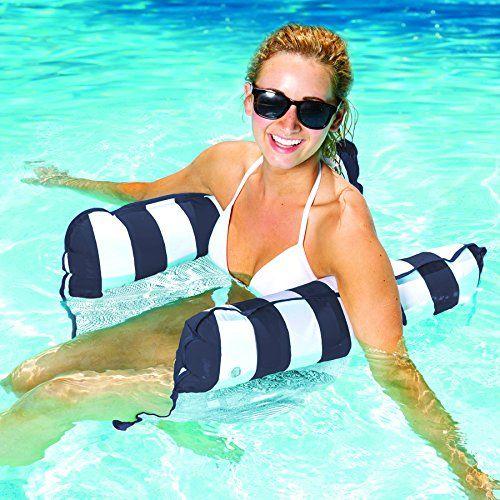 Easily Foldable Multi-Purpose Hammock Pool Float Saddle, Lounge Chair, Hammock, and Drifter