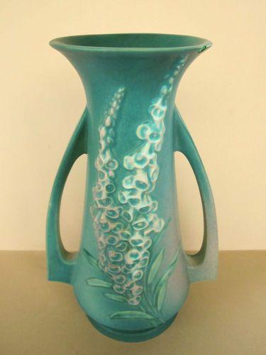 Roseville Foxglove Vase 10 Tall Circa 1940 51 10 My