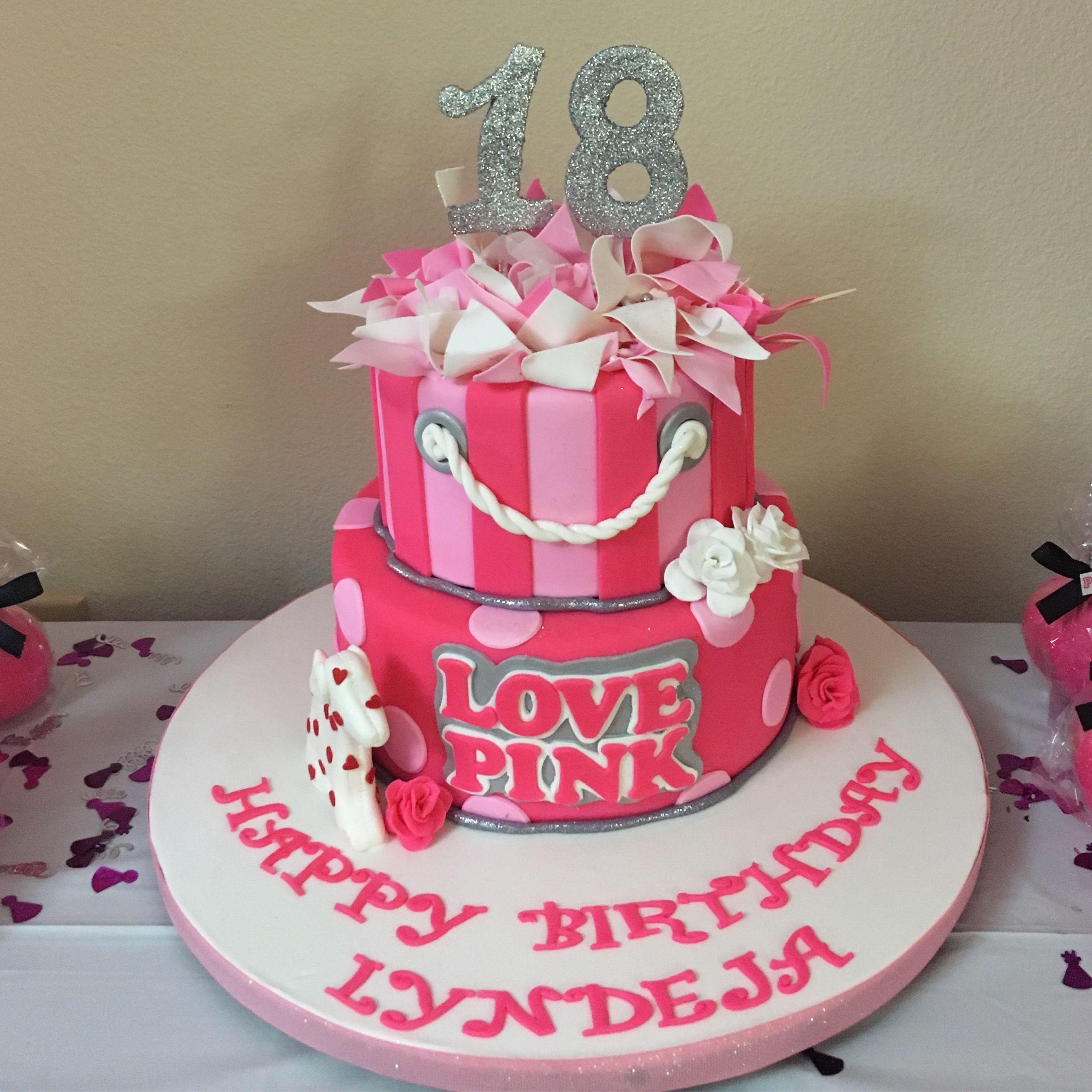Pin By Kim On Victoria Secret Pink Party Birthday Cake