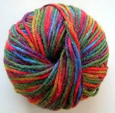 diff. length of yarn; tell story until the color runs out