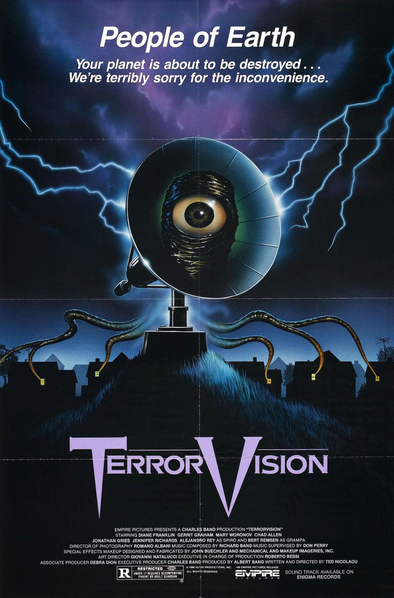 Angelika Jager terror vision moive poster | horror movie posters, horror