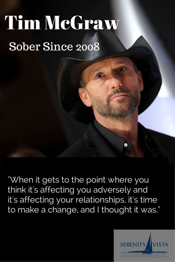 """Tim McGraw - """"He's sober now!"""" Alcoholism and other forms of addiction are rampant in every walk of life. If you want to get your car back, your wife back, your dog back, and your self-respect back, consider drug rehab"""