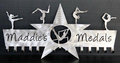 Gymnastics Medals Display Gymnastics Ribbons Holder Personalized