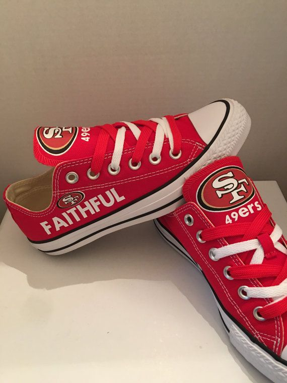 San Francisco 49ers converses tennis shoes by sportshoequeen