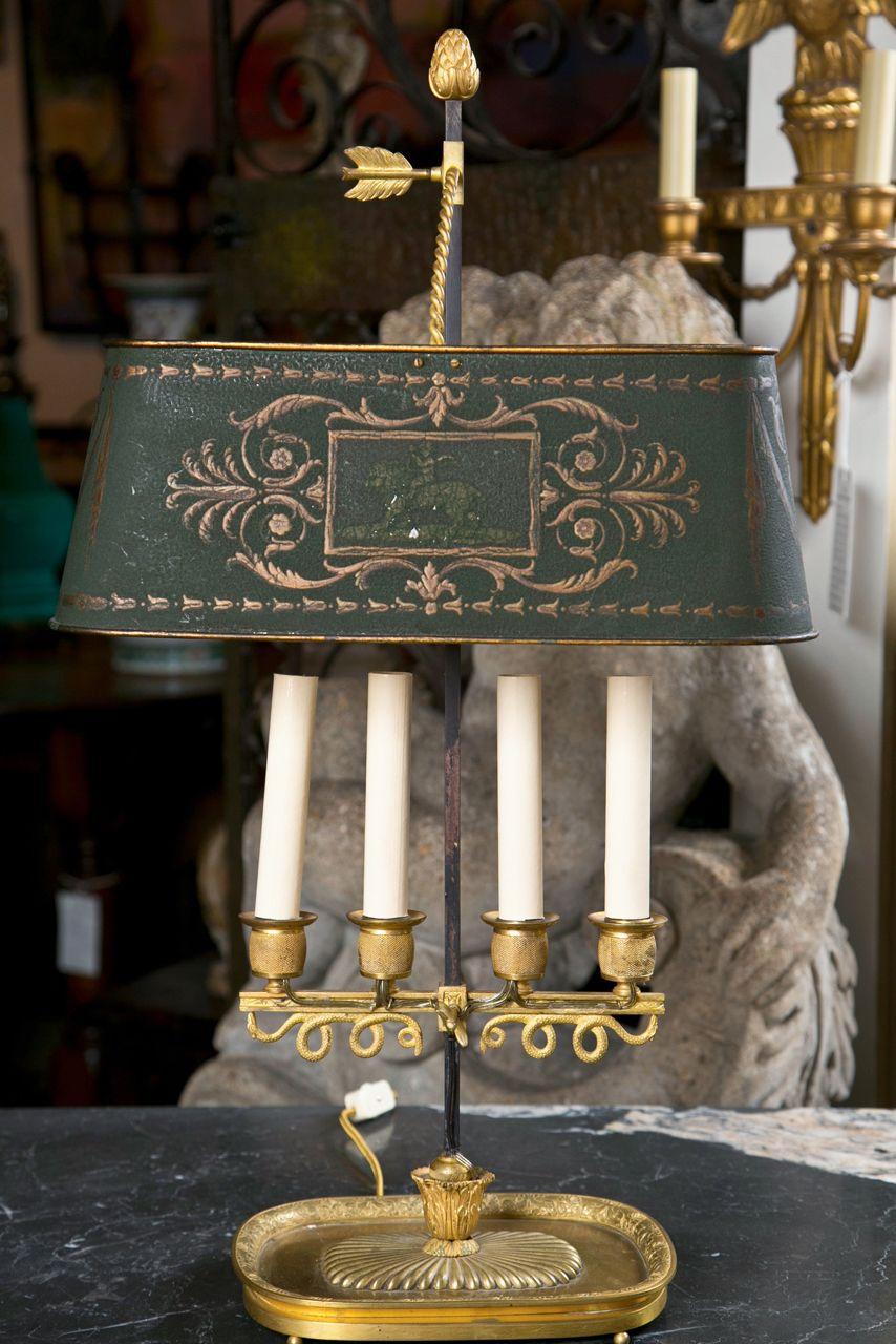 Baltic tole peinte bouillotte lamp lmparas de mesa candelabros y baltic tole peinte bouillotte lamp aloadofball Images