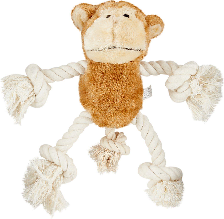 Ethical Pet Plush Rope Moppet Monkey Dog Toy 12 5 In Long