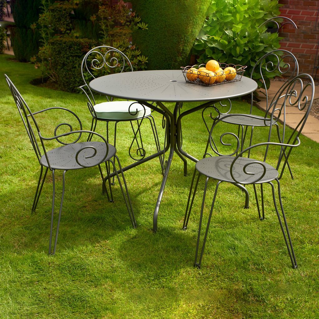 269 glendale malta 95cm dining set with 4 romantic chairs next day delivery glendale - Garden Furniture Next Day Delivery