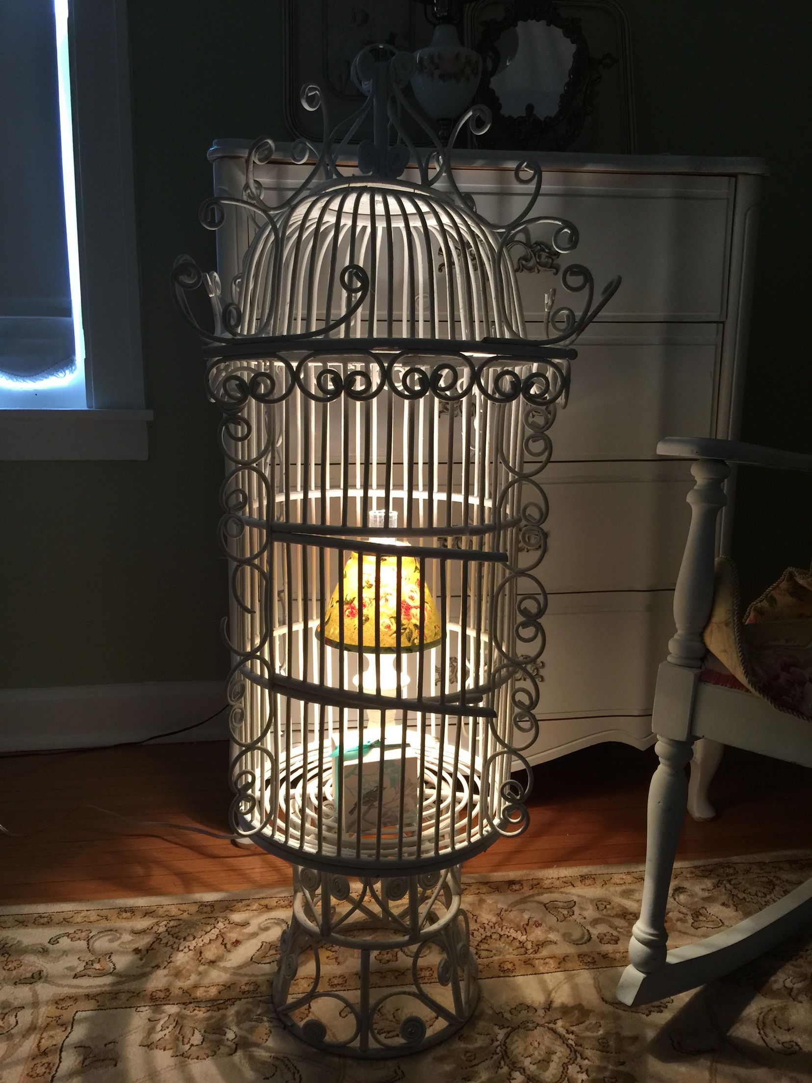 Lovely large birdcage wedding cards or intimate lighting