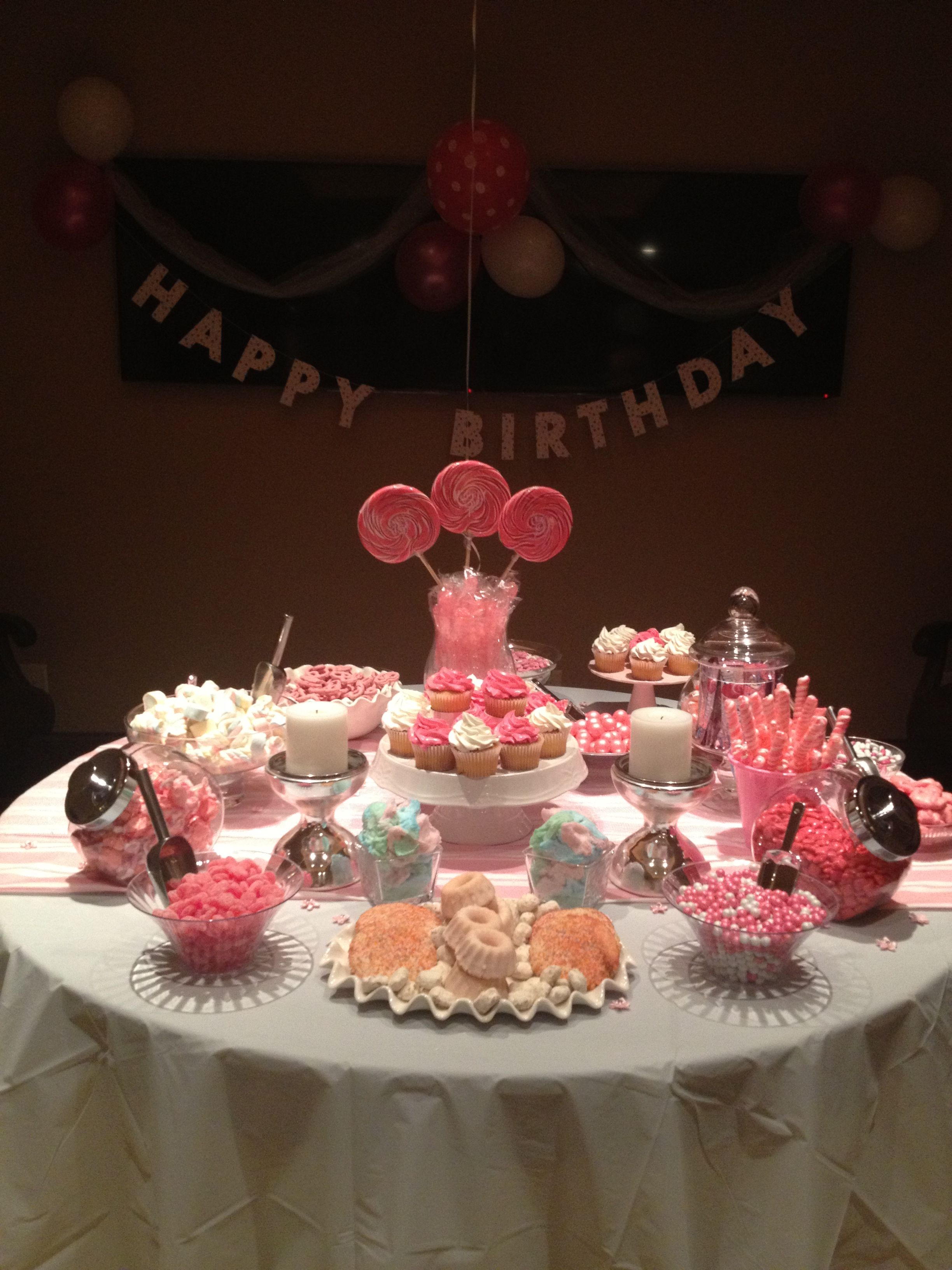 My Pink 17th Birthday Party 17 Birthday Party 17th Birthday 17th Birthday Party Ideas