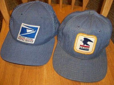 2 Vintage United States Postal Service U.S Mail Hats Retro Trucker Snapback  Caps 13a006bc1cd