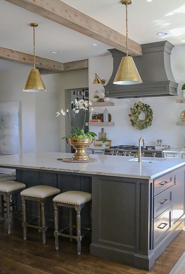 Go for pendant lights for your small kitchen!!