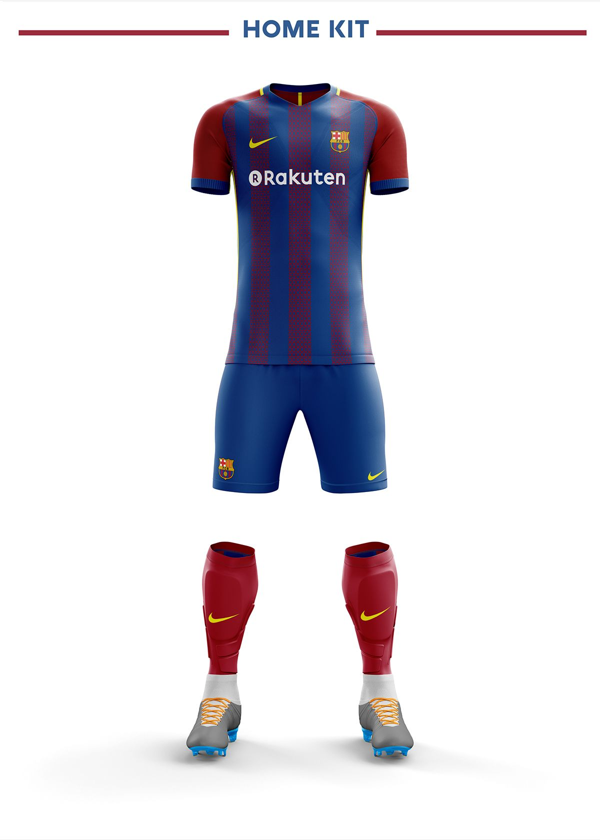 Fc Barcelona Football Kit 18 19. on Behance  045e9db1b4d29
