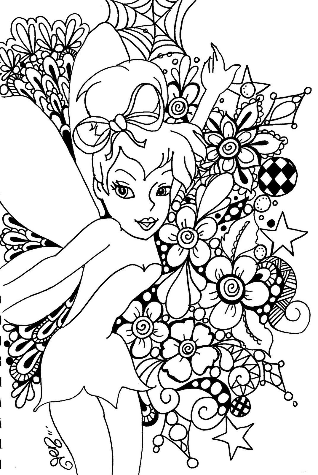 Fairy Coloring Pages Tinkerbell To Print And Color Coloring