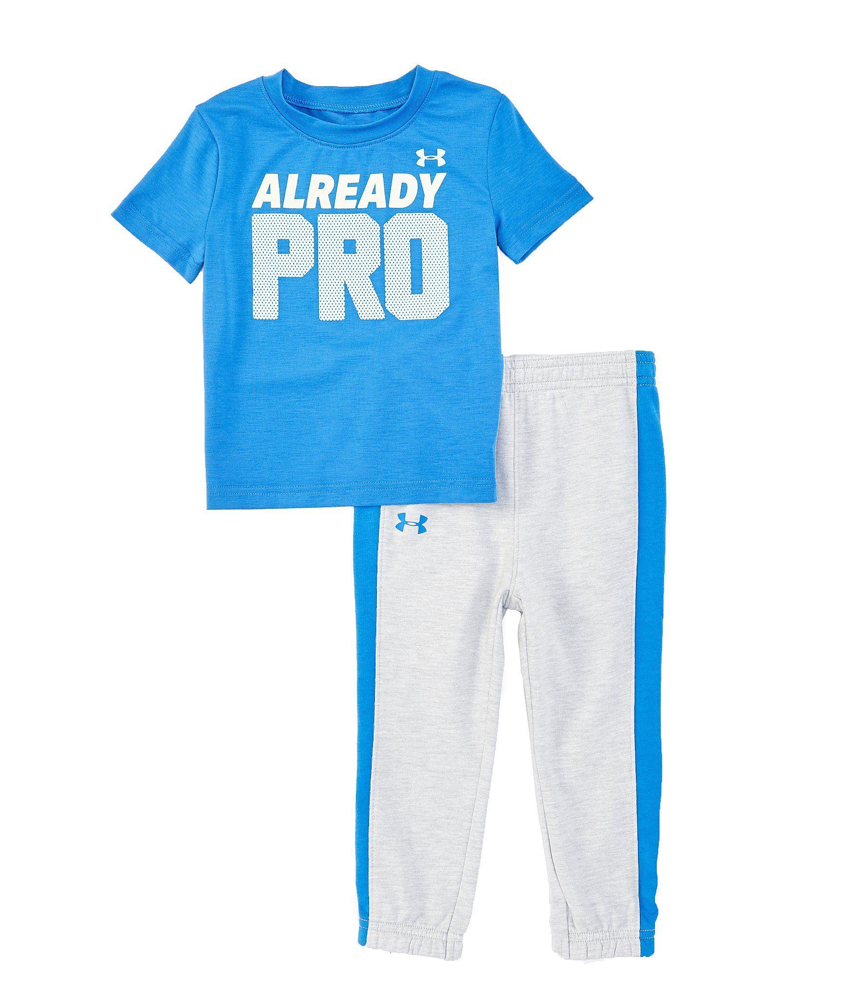 Under Armour Boys Short Sleeve Tee and Pant Set