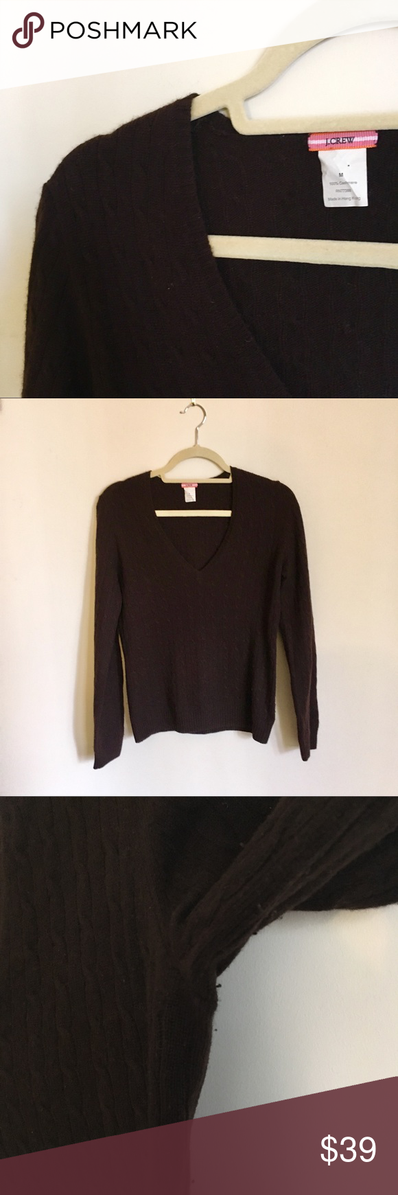 J. Crew Brown Cashmere Sweater | Cashmere sweaters, Chocolate ...