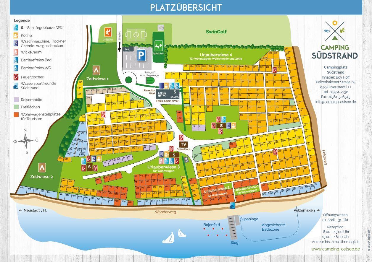campingplätze ostsee deutschland karte Camping Südstrand   Camping direkt am Strand   Ostsee, Freizeit