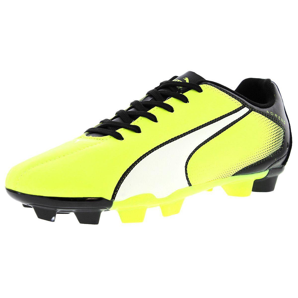Black PUMA Adreno FG Boys Soccer Boots//Cleats