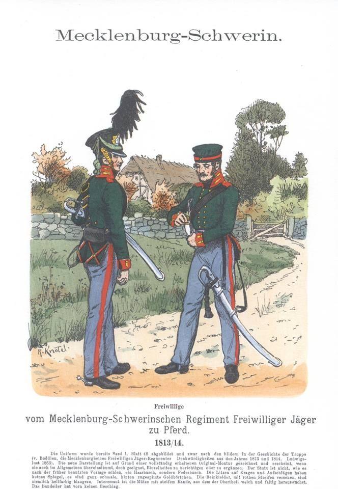 Band XI #34.- Mecklenburg-Schwerin. Freiwillige Jäger zu Pferde 1813-1814.