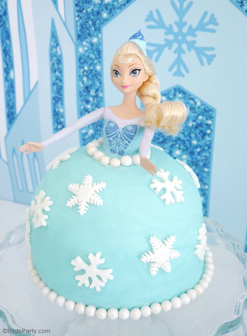 How To Make An Elsa Doll Birthday Cake Gateau Reine Des Neiges