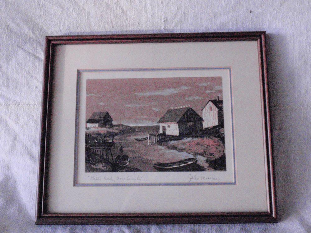 John Mosiman Serigraph Gills Rock Door County WI Wisconsin Print ...